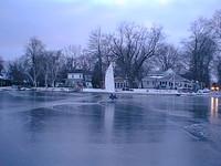 Ice returned to Syracuse Lake, IN